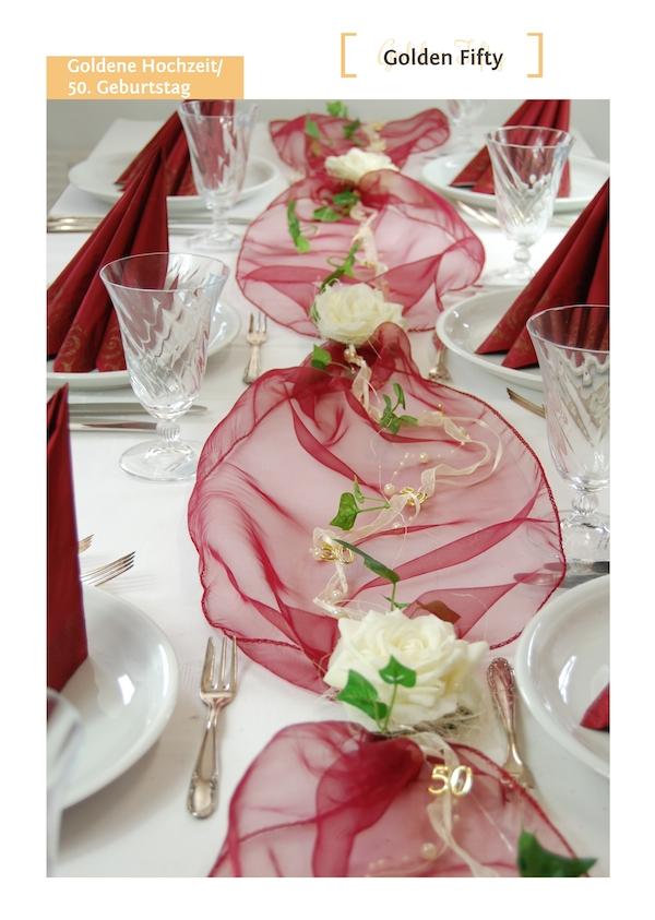 Deko Bayrisch Selbstgemacht : 50 Geburtstag Golden Fifty Tischdekoration von Fibula [ STYLE ]®