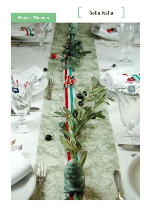 Bella Italia Tischdekoration Von Fibula Style