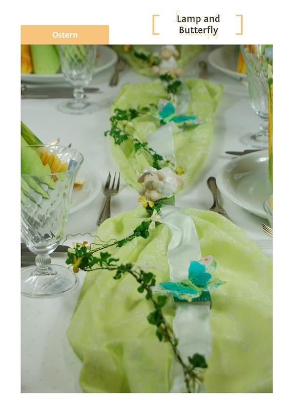 Saisonale Tischdekoration Ostern von Fibula [ STYLE ]®